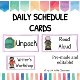 Daily Schedule Cards {EDITABLE!}