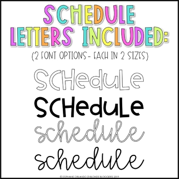 Daily Schedule Cards {EDITABLE}