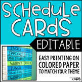 Daily Schedule | Schedule Cards | Editable