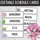 Daily Schedule Cards EDITABLE -  Cactus Themed Classroom -
