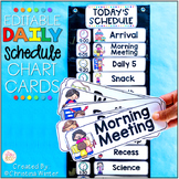 Daily Schedule Cards EDITABLE with times