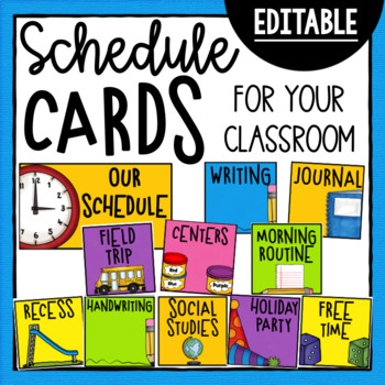 Schedule Cards ~Editable