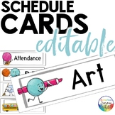 Daily Editable Schedule Cards