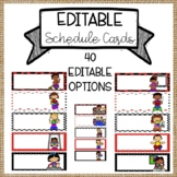 Daily Schedule Cards Editable• Classroom Schedule Cards