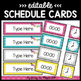 Daily Schedule Cards Editable Happy and Bright Classroom Decor