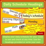 Daily Schedule Wall Display Fully Editable
