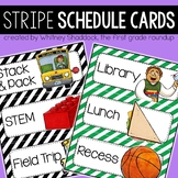 Daily Schedule Cards {Elementary}: Stripes