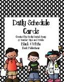 Daily Schedule Cards Featuring Melonheadz *Black & White B