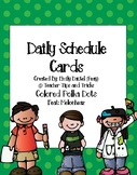 Daily Schedule Cards *Featuring Melonheadz* **Colored Polk