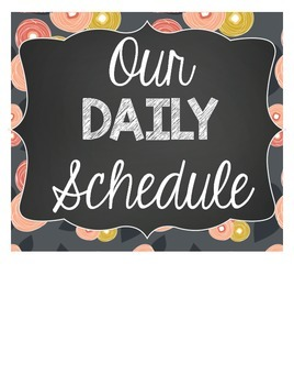 Daily Schedule Cards {Floral, Polka Dots, and Chalkboard)
