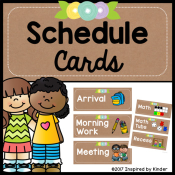 Daily Schedule Cards {Free}