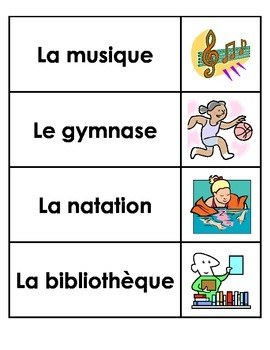 Daily Schedule Cards (French)