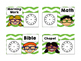 Daily Schedule Cards Kid Theme with Clocks