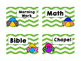 Daily Schedule Cards Ladybug Theme