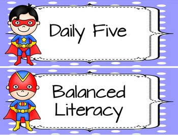 Daily Schedule Cards-Master Schedule Cards-Super Hero Theme
