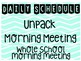 BACK TO SCHOOL Daily Schedule Cards (Mint/Aqua/Chevron)