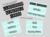 BACK TO SCHOOL Daily Schedule Cards (Mint/Aqua/Chevron)
