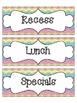 Daily Schedule Cards- Multicolored Chevron