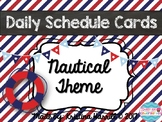 Nautical Theme Daily Schedule Cards with Editable File