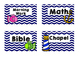 Daily Schedule Cards Nautical Theme