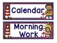 Daily Schedule Cards - Nautical Theme