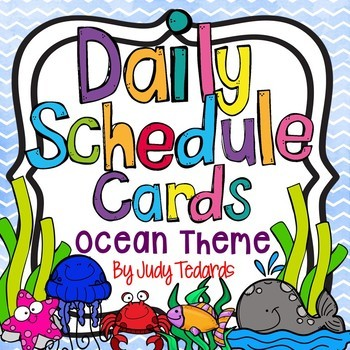 Daily Schedule Cards (Ocean Theme)