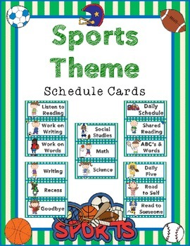 Sports Theme - Daily Schedule Cards