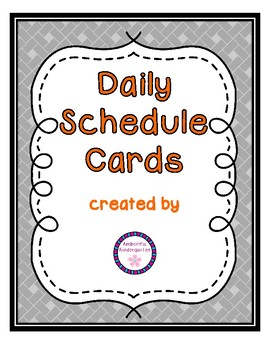 Daily Schedule Cards--Orange Font Color
