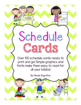 Daily Schedule Cards - Over 100 Cards to Choose From!
