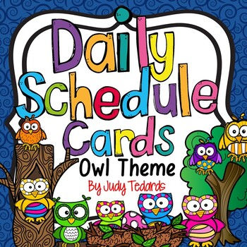 Daily Schedule Cards (Owl Theme)