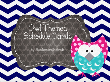 Daily Schedule Cards Owl Theme