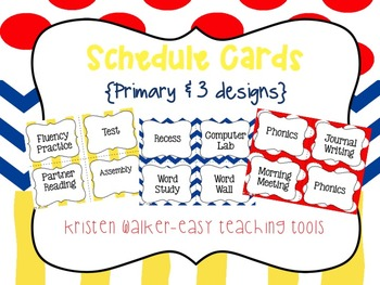 Daily Schedule Cards {PRIMARY & 3 styles}