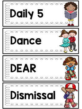 Daily Schedule Cards (Perfect in Primary edition)