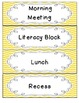 Daily Schedule Cards {Personalized Chevron}