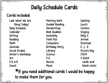 Daily Schedule Cards (Pirate Theme)