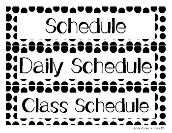 Daily Schedule Cards- Rainbow Dots