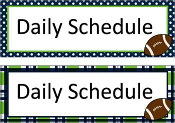 Daily Schedule Cards - Seahawk Thmed