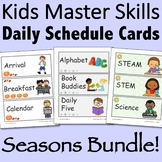 Visual Daily Schedule Cards - Seasons Bundle Editable