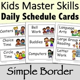 Visual Daily Schedule Cards Simple Border - Editable
