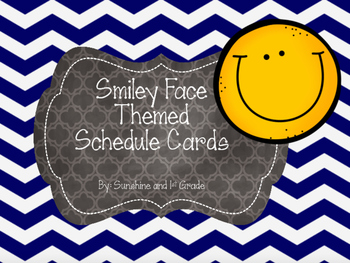 Daily Schedule Cards Smiley Face Theme