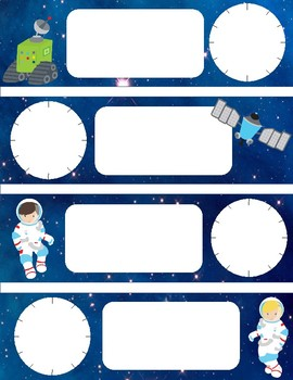 Daily Schedule Cards-Space Themed ANALOG