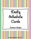 Daily Schedule Cards - Stripes