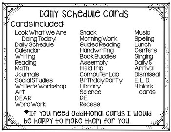 Daily Schedule Cards (Superhero Theme)