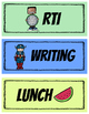 Daily Schedule Cards - Superhero Theme