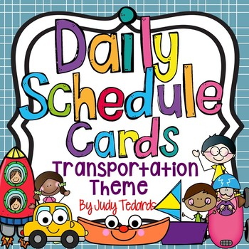 Daily Schedule Cards (Transportation Theme)