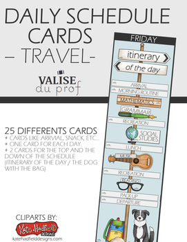 Daily Schedule Cards – Travel