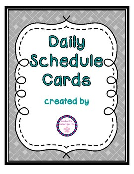 Daily Schedule Cards--Turquoise Font Color