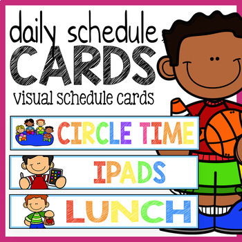 Daily Schedule Cards - Visual Schedule