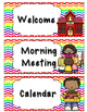 Daily Schedule Cards- White and Bright Chevron