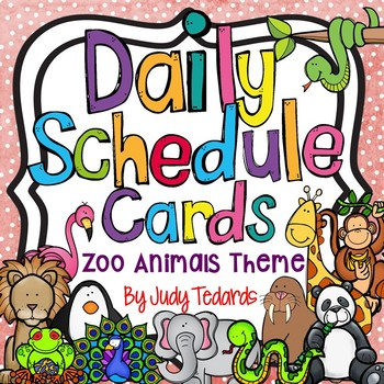 Daily Schedule Cards (Zoo Animals Theme)